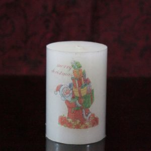 Christmas candle embosed 2×3""