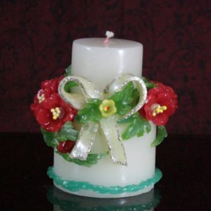 Two step bow candle