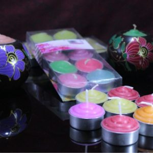 colored perfumed T lite pack of 10